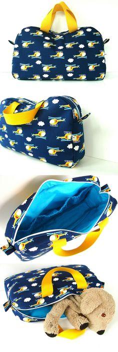 'The Katie bag' voor kleine jongens. (pattern by ithinksew.com)