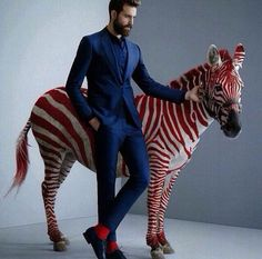 it is said a zebra never changes it's stripes..neither should a gentleman.