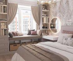 Bedroom Decor For Teen Girls, Girl Bedroom Designs, Small Room Bedroom, Room Ideas Bedroom, Home Decor Bedroom, Ikea Bedroom Design, Luxury Bedroom Design, Bedroom Furniture, Master Bedroom