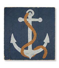 #LLBean: Wooden Artwork, Anchor