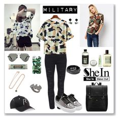 """""""Shein Green T-shirt"""" by ludmyla-stoyan ❤ liked on Polyvore featuring Westward Leaning, CB2, Atelier Cologne, Miss Bibi, Milly, Tela Beauty Organics, Millefiori, Aamaya by priyanka, Noir and GREEN"""