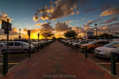 Somerset Mall - sunset in parking area - Helderberg - Cape Town (Photo Clifford Wort).
