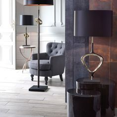 Heathfield & Co Crete Table Lamp Brass