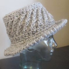 Grammy Dirlam: How's About A Hat Pattern Made with Super Bulky Yarn, and just over 2 hours