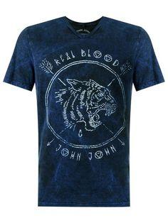 John John Camiseta com estampa