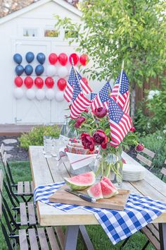 Patriotic Balloon Flag for of July or Memorial Day Fourth Of July Decor, 4th Of July Celebration, 4th Of July Decorations, 4th Of July Party, July 4th, Birthday Decorations, Table Decorations, Patriotic Party, Patriotic Crafts