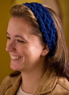 Chain Link Headband Pattern - Free Knitting Patterns by Kerin Dimeler- Laurence