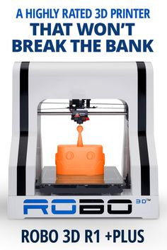 The Robo 3D +Plus comes with everything you need to get started, including several pre-installed 3D models of items you can build, and a spool of filament that can be used to build them. It's a plug-and-print device about as big as a sewing machine that can open up a whole new world of creativity.