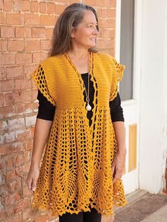 You'll love this NEW Pineapple Drop Cardigan Crochet Pattern from Annie's!