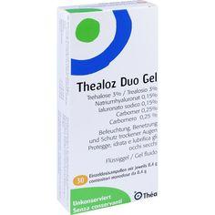 THEALOZ Duo Augengel:   Packungsinhalt: 30X0.4 g Augengel PZN: 10394276 Hersteller: Thea Pharma GmbH Preis: 10,52 EUR inkl. 19 % MwSt.…