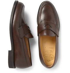 Penny Loafers, Brown, Leather, Shoes, Fashion, Moda, Loafers, Zapatos, Shoes Outlet