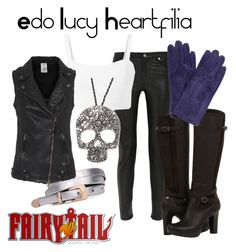 """""""Edo Lucy Heartfilia"""" by anime-addict10 ❤ liked on Polyvore featuring BLK DNM, UGG Australia, John Lewis, True Religion and Couture by Lolita"""