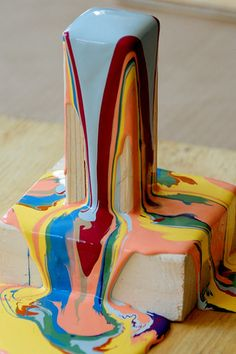 paint tower art project- very cool!