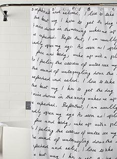 Script Shower Curtain Cool Curtains Urban City Splish Splash Bathroom