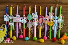 Diy Ostern, Easter Crafts, Christening, Birthday Candles, Snowman, Cake, Fun, Google, Easter Candle