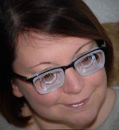 For all out there who suffer from extreme myopia and wear high index glass lenses in tiny frames : Try myodisc lenses !!! Unexpensive plastic lenses with low index and not too small myodisc bowl give perfect vision ! YOu will be astonished who good is your vision in this kind of glasses ! I adapted to them within a few hours  ! Girls With Glasses, Lenses, Frames, Strong, Plastic, Ebay, Amazing, Frame