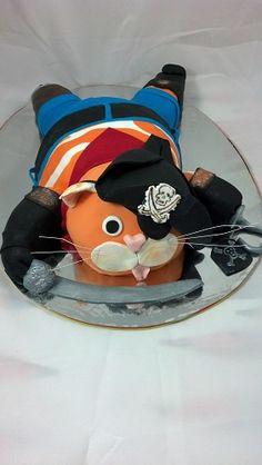 Прикрепленное изображение Cat Cakes, Cupcake Cakes, Cake Pops, Pirate Cakes, Fancy Cakes, Chocolate, Let Them Eat Cake, Beautiful Cakes, Cake Decorating
