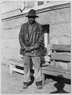 """WILL ADAMS, was born in 1857, a slave of Dave Cavin, in Harrison Co., Texas. He remained with the Cavins until 1885, then farmed for himself.  """"I lives by myself now and they gives me $13.00 a month. I'd be proud to git it if it wasn't more'n a dollar, 'cause they ain't nothin' a old man can do no more."""""""
