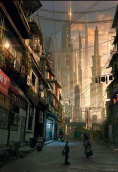 Cyberpunk Atmosphere, Future, Futuristic City, Dystopia, Futuristic Architecture