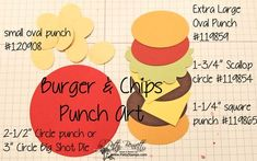 How to make a punch art hamburger and chips
