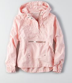 Shop the AEO Pullover Windbreaker from American Eagle Outfitters. Check out the entire American Eagle Outfitters website to find the best items to pair with the AEO Pullover Windbreaker . Ropa Color Pastel, Pastel Pink, Looks Style, Style Me, Pullover Windbreaker, Pullover Rain Jacket, Windbreaker Outfit, Womens Windbreaker, Mein Style