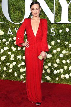 Olivia Wilde in Michael Kors attends the 2017 Tony Awards. #bestdressed