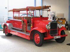 Vintage Volvo fire truck.