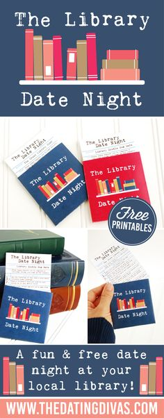 An easy to prep date night idea at your local library! Use the free printables to complete various tasks and dares! This looks fun! www.TheDatingDivas.com
