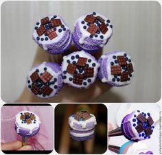 Купить Вкусная ложка с ирисками - фиолетовый, вкусные ложки, ложечка, ложка ручной работы