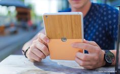 IPad Mini Bamboo Skin by Be markable. made in The Netherlands op CrowdyHouse Ipad Mini, Netherlands, Bamboo, Cover, How To Make, The Nederlands, Holland, Blanket, The Netherlands