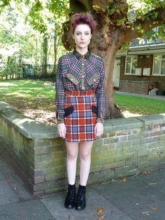 Teddy Girl skirt - tartan | Domino Club