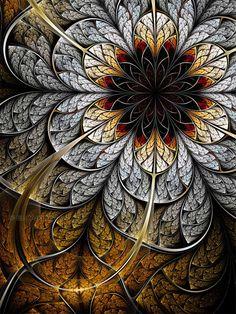 Flower II by =lucid-light Digital Art / Fractal Art / Raw Fractals Fractal Images, Fractal Art, Fractal Design, Art Sculpture, Wow Art, Sacred Geometry, Textures Patterns, Art Images, Art Pictures