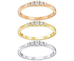 You'll be able to show off stacks of style with this gorgeous trio of Frisson Rings. Each design sparkles with stunning clear crystals. The rings are ... Shop now