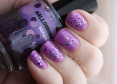 Rebecca picked Shore Bright, a purple from the China Glaze Sunsational collection to pair with Sonoma Nail Art's Halloween in the Vines