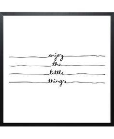 Little Things-Poster gerahmt