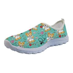 3D CARTOON PRINTED NURSE SHOES   FREE Shipping worldwide   - Dean Mary Nurse Shoes, 3d Cartoon, Comfy Shoes, Slip On Shoes, Snug Fit, Dean, 3 D, Mary, Lace Up