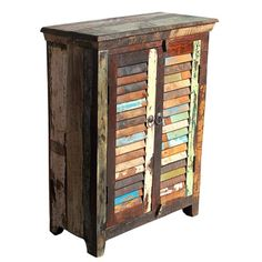 This Mary Rose 2 Door Sideboard uses reclaimed fishing boat timbers, some is over 150 years old.