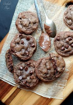 OMG!!!!!!!!!!!!!!!!!!!!!!!!!!!!!!!!!!!!!!!!!!!!!!!!!Nutella Filled Chocolate Chocolate Chip Cookies