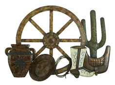Metal Western Wall Decor