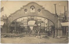 Lodi arch in 1907. We enjoy finding vestiges of long ago on our walks through small towns.