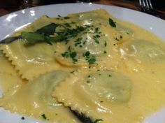 Spinach Ravioli in a Sage and Butter Sauce #food #dinner