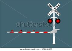 Railroad crossing sign - stock vector
