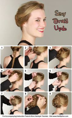 Tutorial: Sexy Braid Updo - www.hairbyken.com