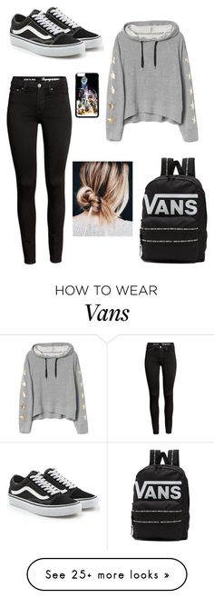 """'Abigail's' school #1"" by evelinanoskova on Polyvore featuring Vans"