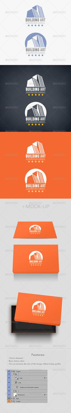 Building Art Logo #GraphicRiver What is included? Building Art Logo.psd…..................................(500×1665px) Mock-up.psd…..............................................(900×1800px) Features: Easy choice colors. Layered PSD . Vector elements. You can increase the size of the image without losing quality. Fonts: Bebas Neue OptimusPrinceps Created: 31October12 GraphicsFilesIncluded: PhotoshopPSD Layered: Yes MinimumAdobeCSVersion: CS Resolution: Resizable Tags: beautiful #black #blue…