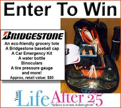 Car & Safety Tips With Bridgestone Tires! Enter To Win A @Bridget Stone Car Care Kit Prize Pack!