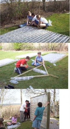 Pictures Of A Quot Build It Yourself Quot Pvc Dome Greenhouse Pool