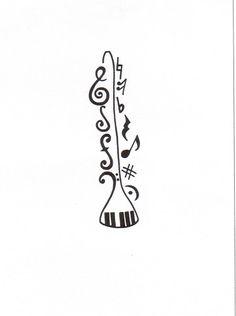 Music Tattoo | Flickr - Photo Sharing! Band Mom, Band Nerd, Love Band, Bass Clarinet, Saxophone, Band Jokes, Music Tattoos, Looks Cool, Music Notes