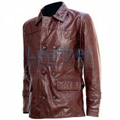 DR WHO CASACO DE COURO MARROM for R$1.056,02 - https://www.leathercollection.com/pt-br/dr-who-casaco-de-couro-marrom.html