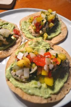 So very delicious looking that I'll have to try!! Cilantro Lime Chicken Tacos with Pineapple Mango Salsa